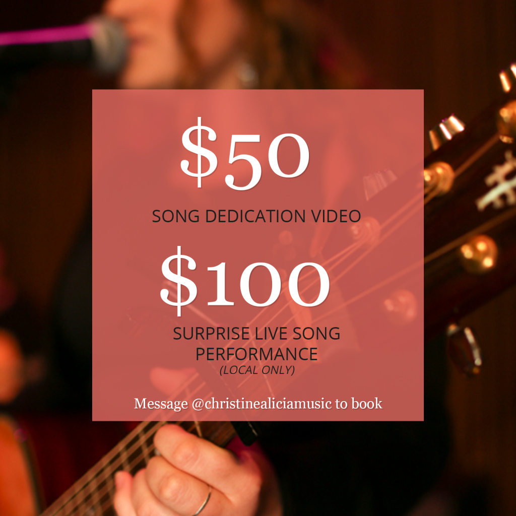 Affordable Valentine's Day gift they'll always remember. $50 song dedication video, $100 surprise live song performance